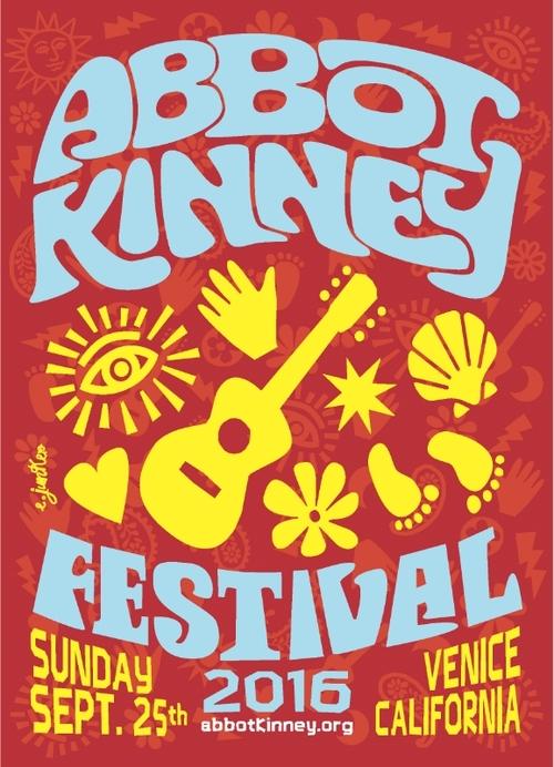 Abbot Kinney Festival Poster