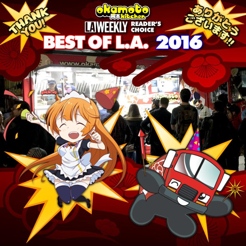 Okamoto Kitchen wins Best Food Truck of 2016!