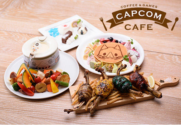 Capcom Cafe Monster Hunter themed food