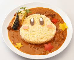 Kirby Cafe curry dish that looks like Waddle Dee