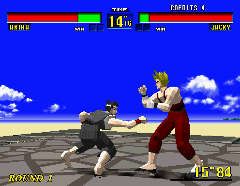 Screenshot of Virtua Fighter midgame