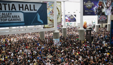 Crowded hall at Anime Expo